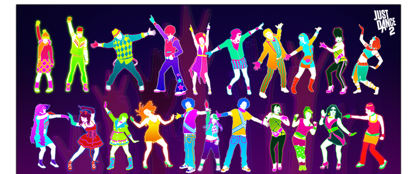 illustrations vectorielles personnage just dance 2 guillaume klein
